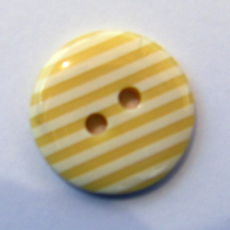 Button, stripes - beige