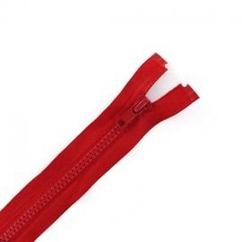 Fermeture Eclair séparable synthétique rouge