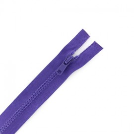 Synthetic separating zipper Eclair - purple
