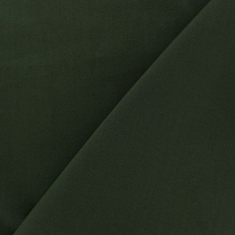 Cotton Fabric - green khaki x 10cm