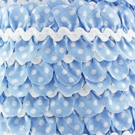 Fantasy serpentine with white polka dots - pastel blue