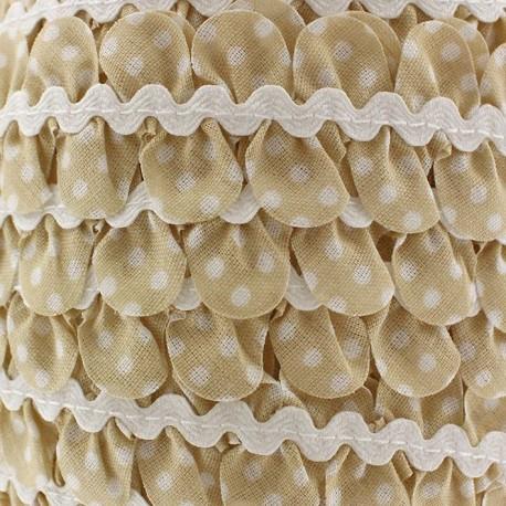 Fantasy serpentine with white polka dots - light beige