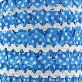 Fantasy serpentine with white polka dots - blue