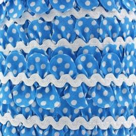 Serpentine fantaisie à pois bleu