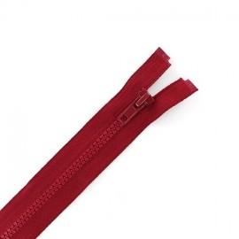 Fermeture Eclair séparable synthétique rouge cerise