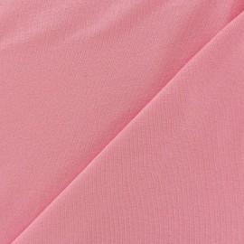 Tissu jersey léger uni rose x 10cm