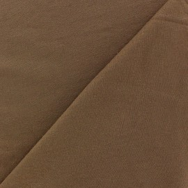 Tissu jersey léger uni chocolat x 10cm