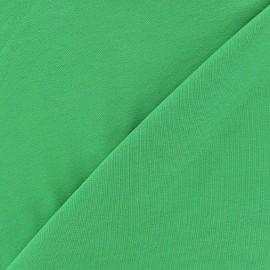 Tissu jersey léger uni vert prairie x 10cm