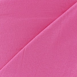 Tissu jersey léger uni rose bonbon x 10cm