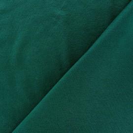 Tissu jersey léger uni paon x 10cm