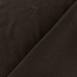Tissu jersey léger uni marron x 10cm