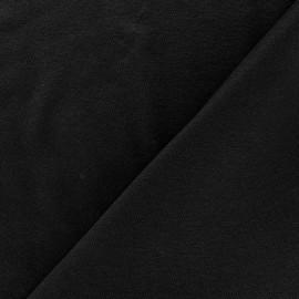 Tissu jersey léger uni noir x 10cm