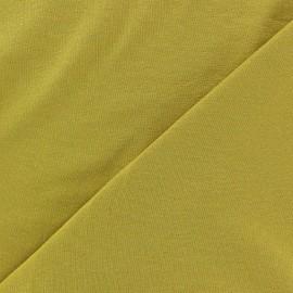 Tissu jersey léger uni moutarde x 10cm