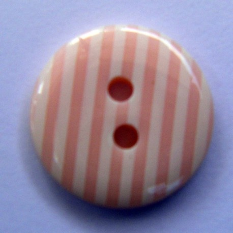 Button, stripes - pink