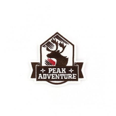 Thermocollant Blason Peak Adventure Cerf marron