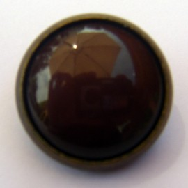 Bomb button - brown