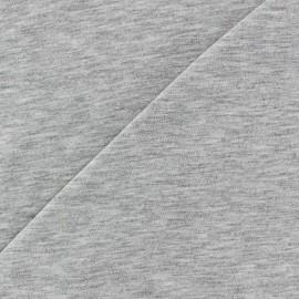 Tissu jersey léger gris chiné clair x 10cm