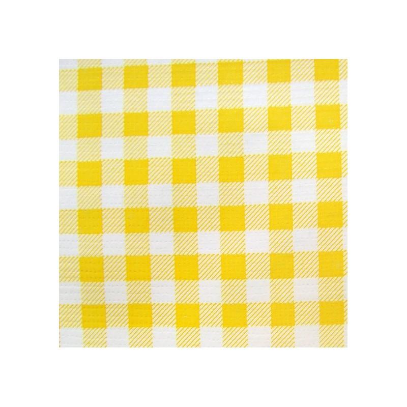 tissu toile cir e grand vichy jaune x 10cm ma petite. Black Bedroom Furniture Sets. Home Design Ideas