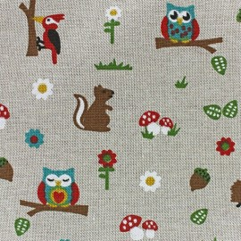 Cotton Canvas Fabric - Forêt x 10 cm