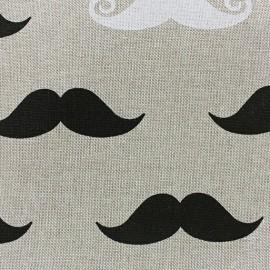 Tissu toile coton Moutaches x 10 cm