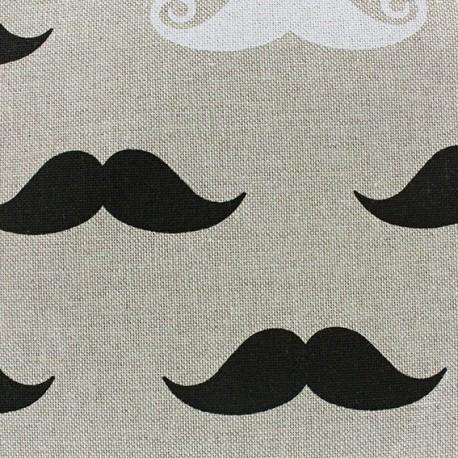 Cotton Canvas Fabric - Moutaches x 10 cm