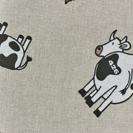 Cotton Canvas Fabric - Vaches x 10 cm