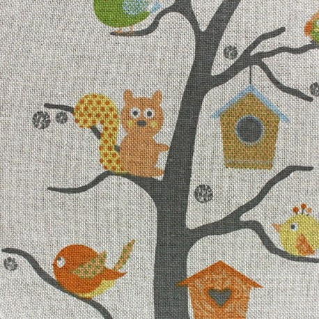 Cotton canvas fabric for t enchant e x 10 cm ma petite for Decoration foret enchantee