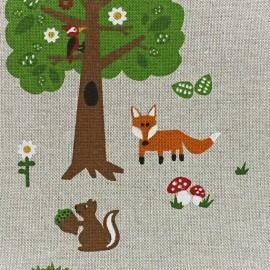 Tissu toile coton Printemps x 10 cm