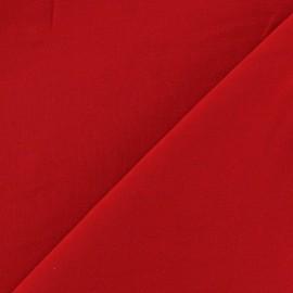 Tissu viscose chemisier rouge x 10cm