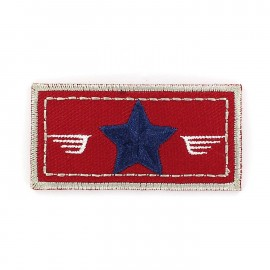 Air Force coat-of-arms iron-on applique - red