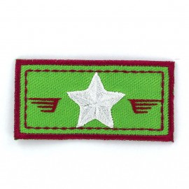 Air Force coat-of-arms iron-on applique - green