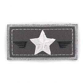 Air Force coat-of-arms iron-on applique - grey