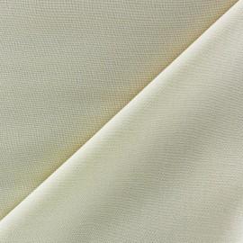 Tissu viscose chemisier blanc cassé x 10cm