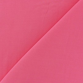 Tissu viscose chemisier rose bonbon x 10cm