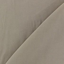 Tissu viscose chemisier taupe x 10cm