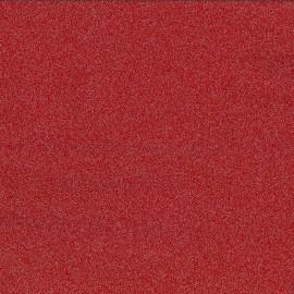 ♥ Coupon 200 cm X 140 cm ♥  Cristal opaque rouge paillettes argent