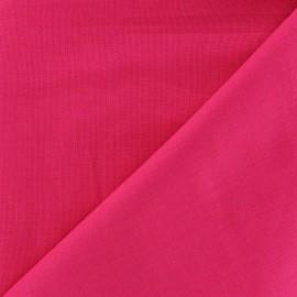 Tissu Coton uni - rose vif x 10cm