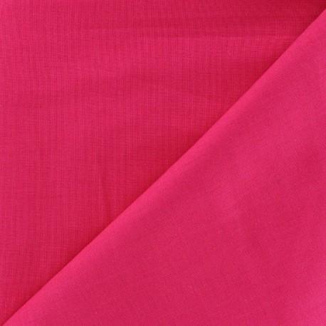 Tissu Coton uni fuchsia x 10cm