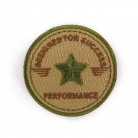 Thermo Blason Rond Air Force fond Taupe