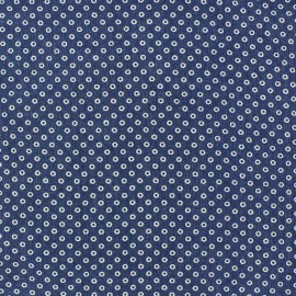 Litte circles Jeans Fabric - Blue x 10cm