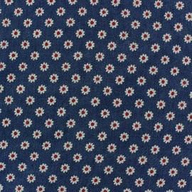 Jeans Daisy fabric - dark blue x 10cm