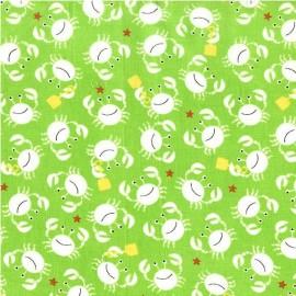 Tissu Little Diggers Vert x 10cm