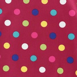 Tissu jersey Multi dots violine x 10cm