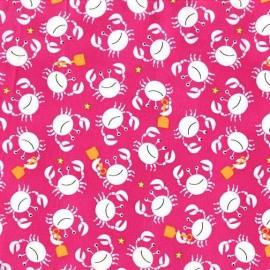 Tissu Little Diggers Rose x 10cm