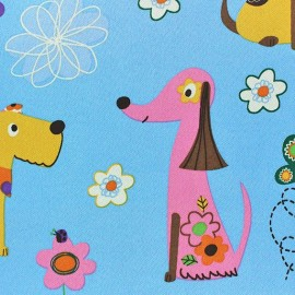Tissu Occultant Happy Doggy anis x 10cm