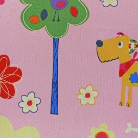 Tissu Occultant Happy Doggy rose x 10cm