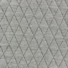 Tissu jersey matelassé losanges Lola gris chiné x 10cm