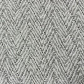 Tissu jersey matelassé losanges Calia gris chiné x 10cm