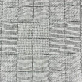 Tissu jersey matelassé carrés Dalla gris chiné x 10cm