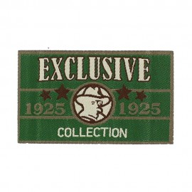 "Vintage ""Exclusive Collection"" iron-on applique - green"